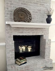 Materials I used for this project:  Lime paint  (Pure and Original) Rustoleum High Heat Paint  (Amazon)80 s fireplace update by leslie stocker, diy, fireplaces mantels, home improvement, painting