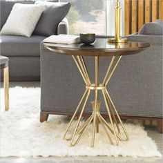 Crestaire - Milo Round Lamp Table in Porter - 436-15-14 - Stanley Furniture - living room - modern furniture
