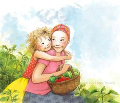 Kristi Valiant: Mother's Day Illustrations, from the kid's book THE GOODBYE CANCER GARDEN.