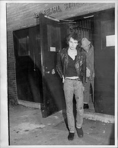 Sid Vicious Booked Again Sid Vicious leves Police Hqs after having been booked on a assault charge while out on bail December 07 1978 Photo by...