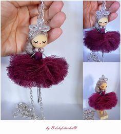 Ballerina bambola Collana di Delafelicidad su Etsy