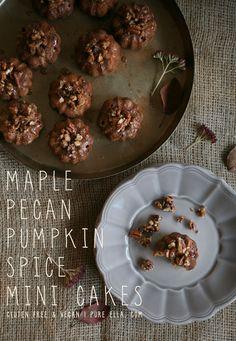 Pure Ella | Maple Pecan Pumpkin Spice Mini Cakes with So Delicious : gluten-free/ wheat-free/ dairy-free/ egg-free/ vegan