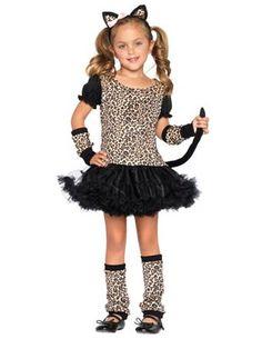 Girls Little Leopard Costume | Girls Cat Halloween Costumes