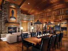 Warm and inviting lodge interior - The Beauty and Comfort of Lodge Style Interiors