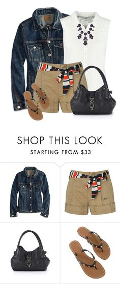 """Chilly Summer Night"" by daiscat ❤ liked on Polyvore featuring American Eagle Outfitters, Red Or Dead, Dooney & Bourke and Tory Burch"