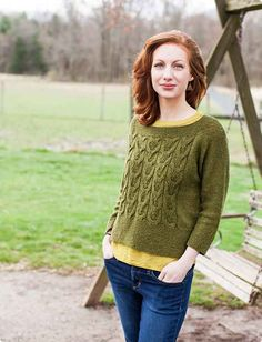 Brooklyn Tweed Hitch Cable Paneled Sweater