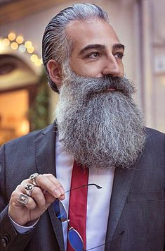 GA Grey Beards, Long Beards, Beard No Mustache, Moustache, Long Beard Styles, Beard Head, Bearded Guys, Beard Tips, Man Gear