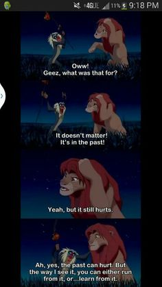 Rafiki and his words of wisdom