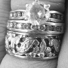 My #wedding #rings #custom #set