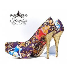 Absolutely Fabulous Disney Princess Glitter Heels