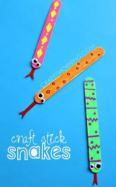 Easy Craft Stick Snake Art Project for Kids
