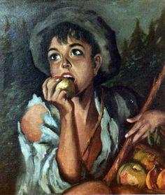 Niño con manzana. 1971