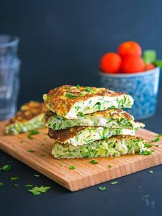 Frittata with Grated Zucchini, Goat Cheese and Dill by theironyou #Frittata #Zucchini #Goat_Cheese #Dill