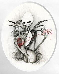 Jack Skellington and Sally by Laetitia Lamblin - The Nightmare Before Christmas