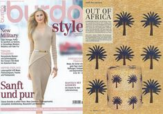 The #Aburi pouffe and fabric in Burdastyle