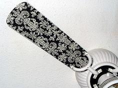 IDEA:  Mod Podge Ceiling Fan Blades