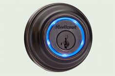 The Kevo dead bolt, by Kwikset looks and installs like a standard dead bolt, but this Bluetooth-enabled lock is the first to employ touch-to-open tech using smartphones as electronic keys. It lights up when your iPhone (4s or later) comes within range, then unlocks when you touch it. Works with the included fob and standard key, too.  About $220 from kwikset.com/kevo | thisoldhouse.com