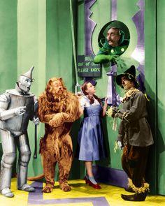 Jack Haley (1898 - 1979) as the Tin Man, Bert Lahr (1895 - 1967) as the Cowardly…