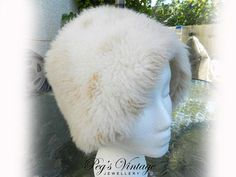 Shipping On Your Second Item Or More Is always FREE!!! - Ships Worldwide From Canada Lovely Beige with brown fluffy fun fur hat, bucket