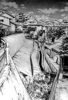 very beautiful manga landscapes - Landscape Artwork, Urban Landscape, Ink Illustrations, Manga Illustration, Cityscape Drawing, Environment Sketch, Background Drawing, Draw On Photos, Urban Sketching