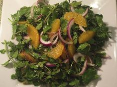Watercress, Orange and Red Onion Salad