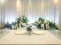 New garden wedding ceremony decorations beautiful ideas Wedding Set Up, Wedding List, Wedding Stage, Wedding Colors, Trendy Wedding, Diy Wedding, Pelamin Simple, Akad Nikah, Malay Wedding