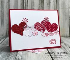 Here's a gorgeous Valentine's Day card for you today!!   I received this card as a swap earlier this month and knew we'd have to make it ...
