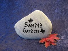 """Engraved Garden Stones/Markers/Gifts, Garden Art, Garden Decor, Garden Gift, Garden Marker, Garden Welcome Stone, Personalized-Sm apx. 4""""-5"""""""