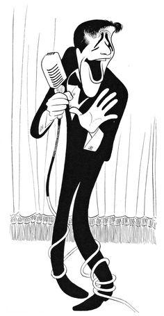 Al Hirschfeld - Jerry Lewis, 1957.