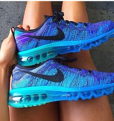 Nike turquoise air max fly knits.