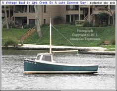 A small boat moored on Spa Creek in Annapolis Maryland on a cloudy day. Photograph taken on September 21st 2011. To see a full size version of this photograph, as well as the accompanying Annapolis Experience Blog article, please click through on the Pinterest images for it. Copyright © 2012 Annapolis Experience