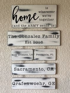 Military Home Decor, Military Signs, Army Decor, Military Mom, Modern Farmhouse Style, Modern Rustic, New Home Designs, Family Signs, Decorating On A Budget