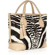 Gucci Marrakech zebra-print calf hair, light-beige leather (Calf) $3100