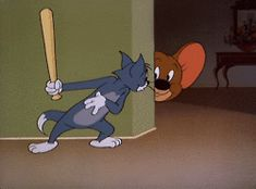 Check out all the awesome tom and jerry gifs on WiffleGif. Including all the movie gifs, tv gifs, and mouse gifs. Tom And Jerry Gif, Tom Und Jerry Cartoon, Tom And Jerry Memes, Classic Cartoon Characters, Favorite Cartoon Character, Classic Cartoons, Funny Cartoons, Animiertes Gif, Animated Gif