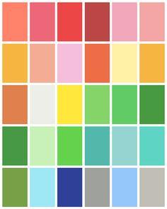 Spring Color Palette - www.tealinspiration.com