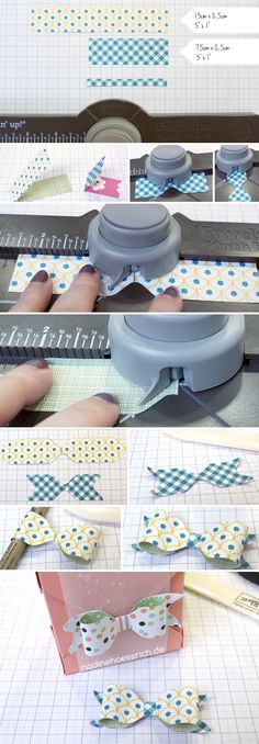 tiny Paper Bow with Envelope Punch Board | Stampin' Up! | nadinehoessrich.de