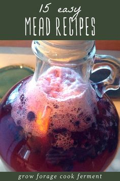 Homemade mead is simple, delicious, and fun to make. Here are 15 easy mead recipes for beginners! Learn how to make your own mead. cider recipes for beginners Homemade Wine Recipes, Homemade Alcohol, Homemade Liquor, Fermented Honey, Fermented Foods, Mead Wine, How To Make Mead, Mead Recipe, Honey Wine