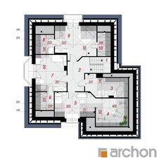 Projekt domu Dom w dąbrówkach (G2P) - ARCHON+ Beautiful House Plans, Dream House Plans, Beautiful Homes, Contemporary House Plans, Construction Design, Floor Plans, How To Plan, Villa, Interior