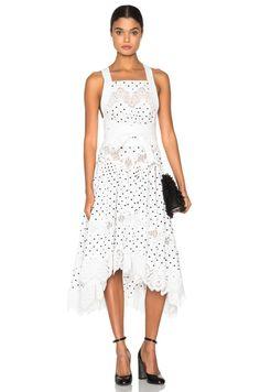 Empire Dot Apron Dress