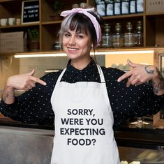 Sorry Were You Expecting Food Snarky Kitchen Apron Gift For | Etsy