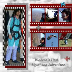 skydiving page idea.