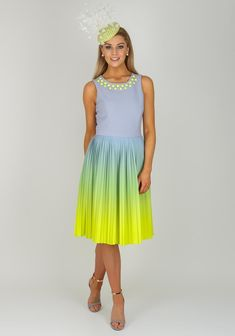 Bourne Marge Two Tone Pleated Dress, Multi-Coloured | McElhinneys