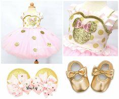 Rosa y oro Tutu de Minnie Mouse vestido rosa por GlitterMeBaby