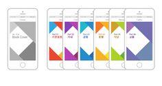 The three color rhombus design on Behance