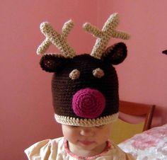 Santa Reindeer  Hat  CROCHET PATTERN  via Etsy.