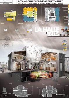 Asylum, Solutions 3d pour l'architecture et l'immobilier Z ARCHITECTURE - MTA La HALLE AUX BLES - Clermont-Ferrand