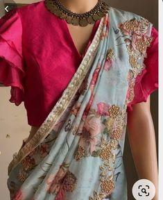 Saree Blouse Neck Designs, Silk Saree Blouse Designs, Fancy Blouse Designs, Bridal Blouse Designs, Designs For Dresses, Latest Blouse Designs, New Saree Designs, Blouse Patterns, Stylish Blouse Design