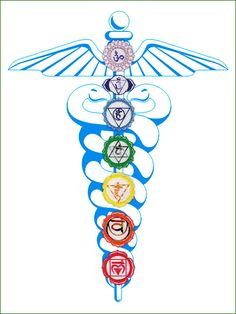 """All beings within our galaxy have this energetic force that is known as Kundalini. The term Kundalini comes from a Sanskrit word 'Kundal' meaning """"coiled 7 Chakras, Chakra Meditation, Kundalini Yoga, Meditation Prayer, Chakra Healing, Illumination Spirituelle, Reiki Angelico, Caduceus Tattoo, Symbole Protection"""