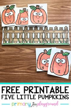 Free Printable Five Little Pumpkins - Primary Playground