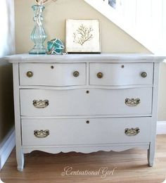 DIY dresser gray blue